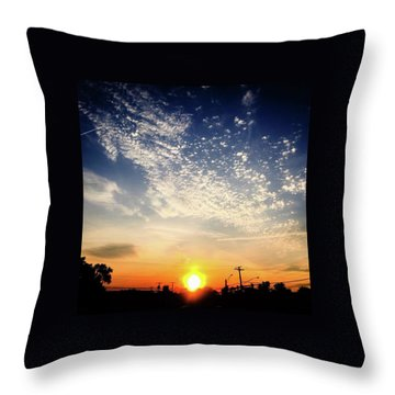 Sunset 25 May 16 Throw Pillow