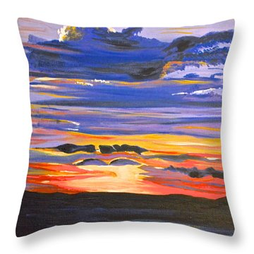 Sunset #5 Throw Pillow by Donna Blossom