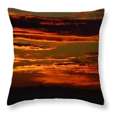 Sunset 5 Throw Pillow by Jean Bernard Roussilhe