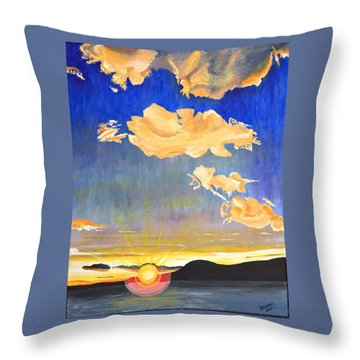 Sunset #6 Throw Pillow by Donna Blossom