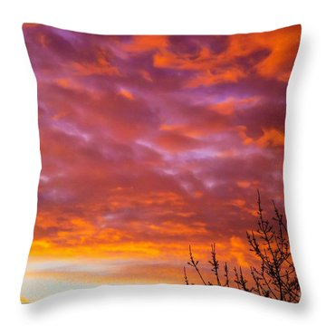 Sunset 7 Throw Pillow by Jean Bernard Roussilhe