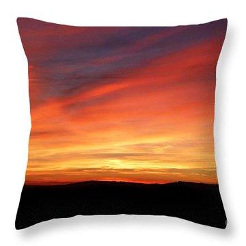 Sunset 9 Throw Pillow by Jean Bernard Roussilhe