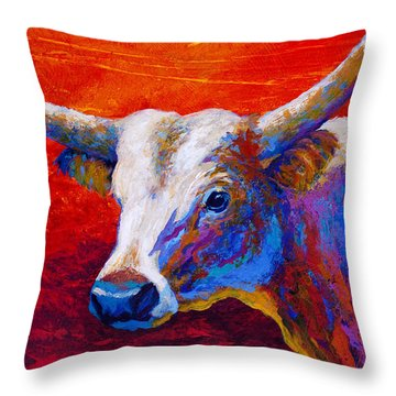 Sunset Ablaze Throw Pillow