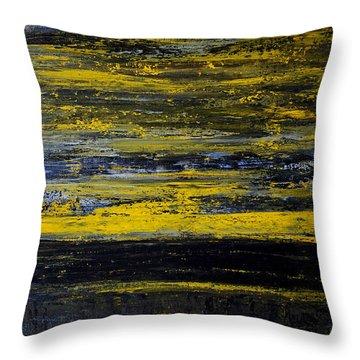 Sunset Abstract Throw Pillow