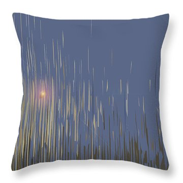 Throw Pillow featuring the digital art Sunset Across The Lake by Gina Harrison