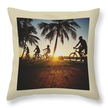 Throw Pillow featuring the photograph Sunset Adventures Along The River At Noosaville by Keiran Lusk