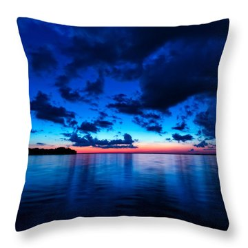Throw Pillow featuring the photograph Sunset After Glow by Christopher Holmes