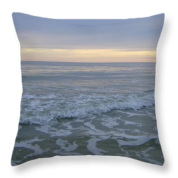 Sunset Along Oak Island Throw Pillow