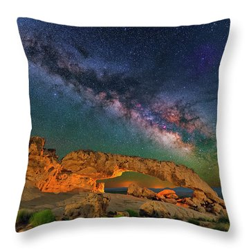 Sunset Arch Throw Pillow
