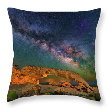 Sunset Arch Throw Pillow