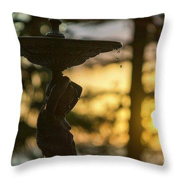 Throw Pillow featuring the photograph Sunset At Alameda Apodaca Cadiz Spain by Pablo Avanzini
