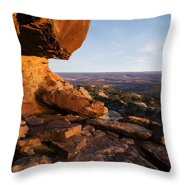 Sunset At Ancient Dwelling Throw Pillow