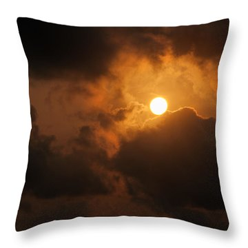 Sunset At Aruba Throw Pillow by Allen Carroll