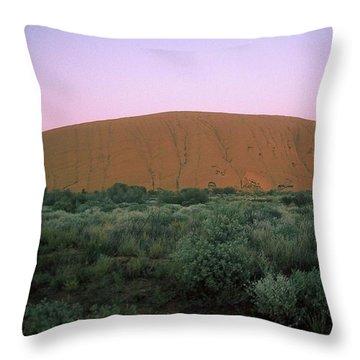 Sunset At Ayre's Rock Throw Pillow