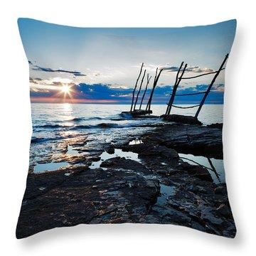 Throw Pillow featuring the photograph Sunset At Basanija by Ian Middleton