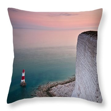 Sunset At Beachy Head Throw Pillow