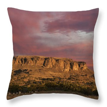 Sunset At Black Mesa Throw Pillow
