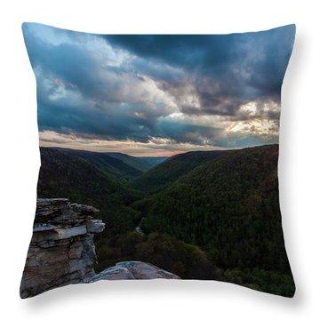 Sunset At Blackwater Falls State Park Throw Pillow