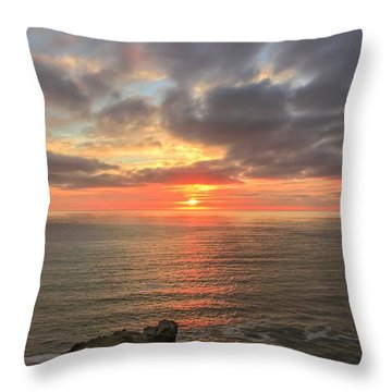 Sunset At Botallack  Throw Pillow
