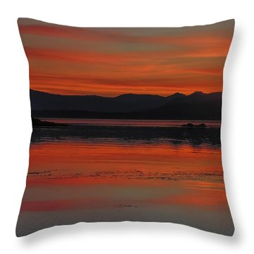 Sunset At Brothers Islands Throw Pillow