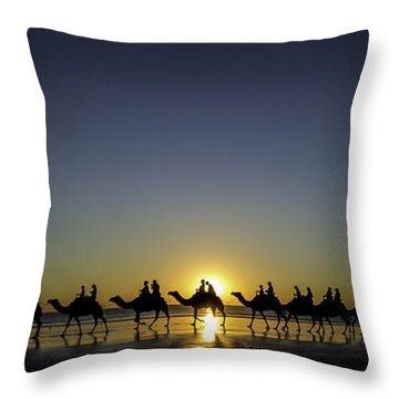 Throw Pillow featuring the photograph Sunset At Cable Beach by Chris Cousins