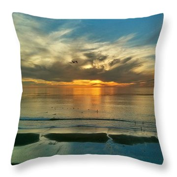 Sunset At Carlsbad Throw Pillow
