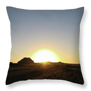 Sunset At Castle Butte Sk Throw Pillow