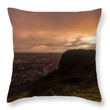 Sunset At Cavehill Throw Pillow