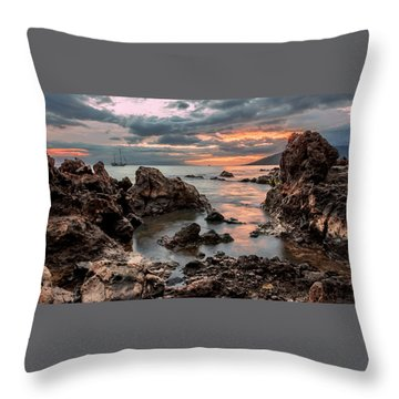 Sunset At Charley Young Beach Throw Pillow