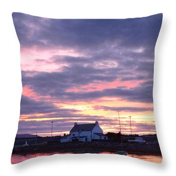 Sunset At Clachnaharry Throw Pillow