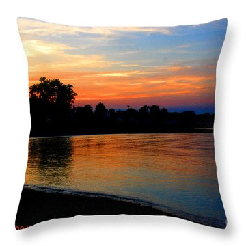 Sunset At Colonial Beach Cove Throw Pillow by Clayton Bruster