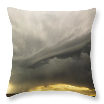 Sunset At Dalhart Texas Throw Pillow