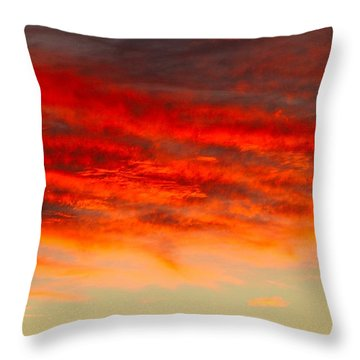 Sunset At Eaton Rapids 4826 Throw Pillow