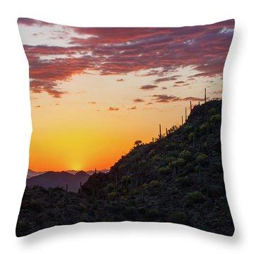 Sunset At Gate's Pass Throw Pillow