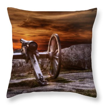 Sunset At Gettysburg Throw Pillow by Randy Steele