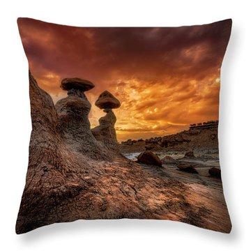 Sunset At Goblin Valley Throw Pillow