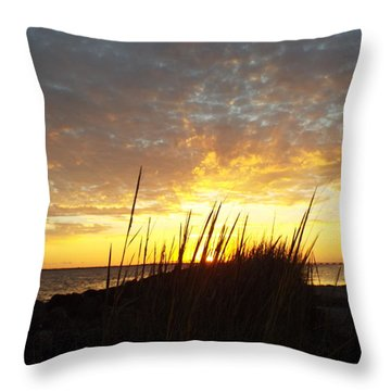 Sunset At Goose Island, Tx Throw Pillow