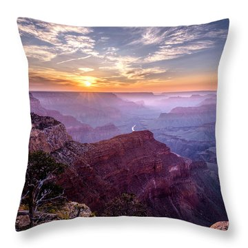 Sunset At Grand Canyon Throw Pillow by Daniel Heine