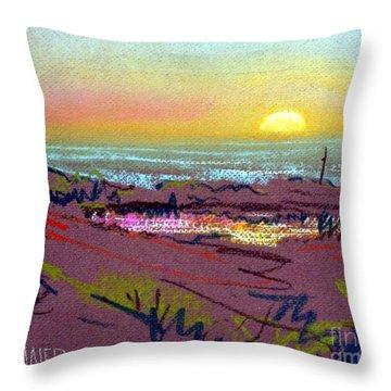Sunset At Half Moon Bay Throw Pillow