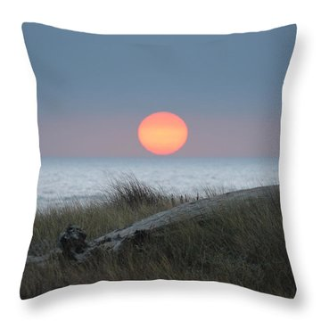 Sunset At Halfmoon Bay Throw Pillow