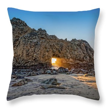 Sunset At Hole In The Rock Throw Pillow by James Hammond