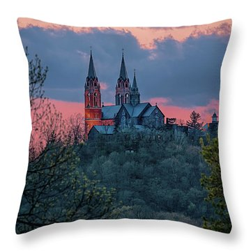 Sunset At Holy Hill Throw Pillow