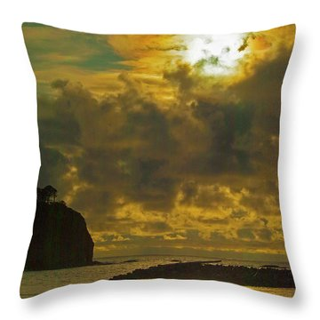Sunset At Jones Island Throw Pillow by Dale Stillman