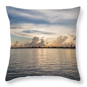 Sunset At Key Largo Throw Pillow by Christopher L Thomley