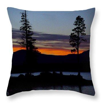 Sunset At Lake Almanor Throw Pillow by Peter Piatt
