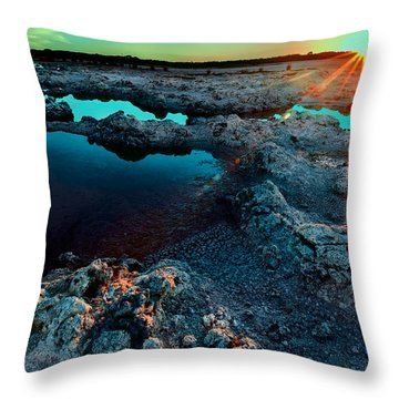 Throw Pillow featuring the photograph Sunset At Lake Walyungup by Julian Cook