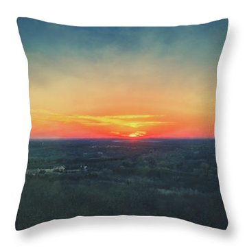 Throw Pillow featuring the photograph Sunset At Lapham Peak #3 - Wisconsin by Jennifer Rondinelli Reilly - Fine Art Photography