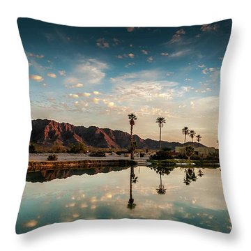 Sunset At Las Barancas Throw Pillow