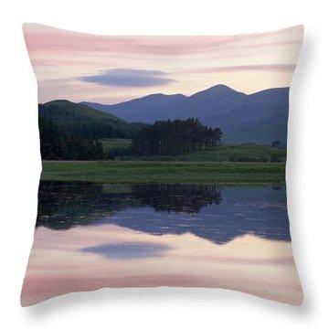 Sunset At Loch Tulla Throw Pillow