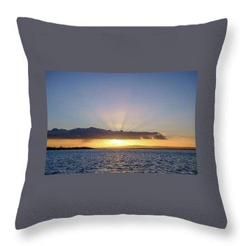 Sunset At Lough Derg Throw Pillow